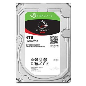 Seagate 6 TB IronWolf Disque dur interne 3.5″ pour NAS 1-8 Bay (7200 RPM, 256 MB Cache, 180 TB/year Workload Rating, Up to 210 MB/s, Model : ST6000VNZ033/VN0033)