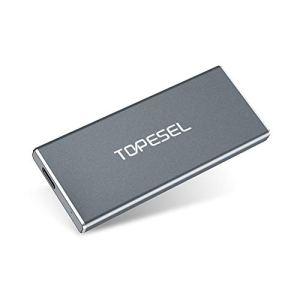 TOPESEL SSD Externe 250Go USB Type C avec Ultra Vitesse de Lecture / d'Écriture Allant Jusqu'à 420 Mo/s et 300 Mo/s, 250 Go USB 3.1 Disque Dur Externe Idéale pour Photographes Programmeurs Joueurs