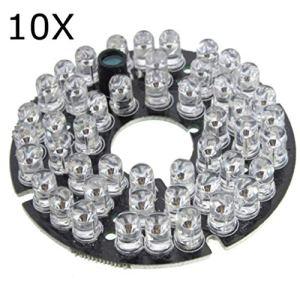 Yongse 10Pcs 48 LED IR Infrarouge pour caméra de sécurité CCTV