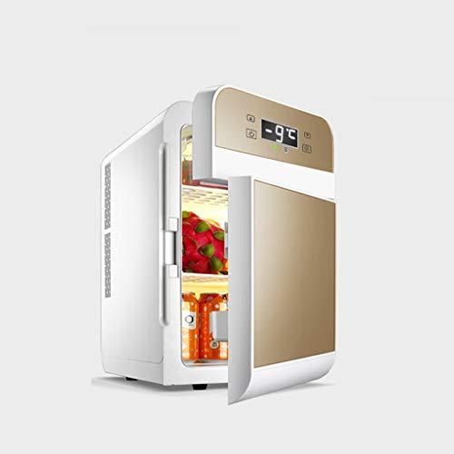 CZBXMini réfrigérateur Refroidisseur et réchauffeur   Capacité 20L   Compact, Portable et Silencieux   Compatibilité Alimentation CA + CC (écran à Affichage numérique à Double Porte Or)