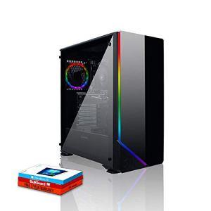 Fierce Guardian High-End RGB/RVB PC Gamer – Vite 3.9GHz Hex-Core AMD Ryzen 5 2600, 1To SSHD, 8Go 3000MHz, AMD Radeon RX 570 4Go, Windows 10 installé 390216