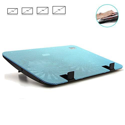 HPDOR Portable, Refroidisseur Ordinateur Portable 12″à 15,6″, Support De Refroidissement pour Ordinateur Portable, Ultra-Mince Muet, Angle RéGlable en Hauteur, 2 Ventilateurs, 1200RPM,Blue