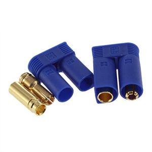 Justdodo 1 Set Haute Qualité EC5 Bullet Connecteurs Prises Adaptateurs Mâle/Femelle Losi Style 5mm en Gros-Bleu