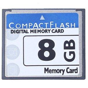 SODIAL Professional Carte Mémoire Compact Flash 8 Go (Whiteandblue)