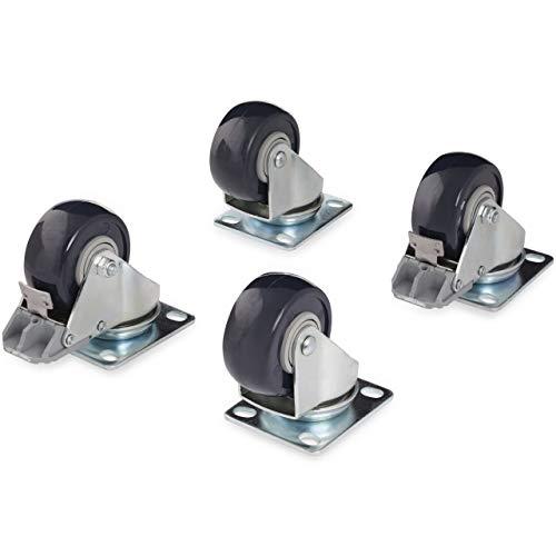 StarTech.com Kit de roulettes pivotantes pour rack serveur / armoire à cadre ouvert – Capacité de 200kg