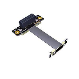 ADT-Link Double câble d'extension PCIe 3.0 à Angle Droit 90 degrés sur 2 x 1 à x1 R11SL-TL Extension de Ruban pour Carte de Connexion Verticale PCI Express 1x Haute (20cm)