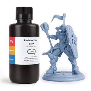 ELEGOO LCD UV 405nm Résine Rapide pour LCD Impression 3D Liquides 500g Photopolymère Résine Gris (ABS Like Résine)