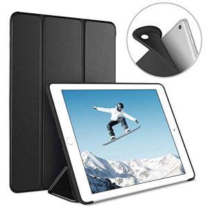 Luvfun Coque pour iPad 2018/2017, Housse pour iPad 6ème/5ème Génération Automatique Ultra-Mince Étui pour iPad 2018/2017 A1822/A1823/A1893/ A1954 -Noir