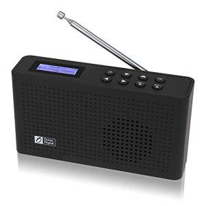 Ocean Digital Portable Radio Internet Wi-FI/Dab/Dab+/FM avec Récepteur Bluetooth, Haut-Parleur, Batterie Rechargeable Radio Compacte pour Le Cuisine Jardin – Noir(WR26)
