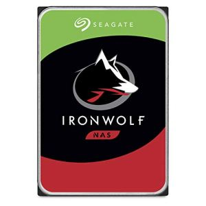 Seagate 4 TB IronWolf Disque dur interne 3.5″ pour NAS 1-8 Bay (5900 RPM, 64 MB Cache, 180 TB/year Workload Rating, Up to 180 MB/s, Model : ST4000VNZ08/VN008)
