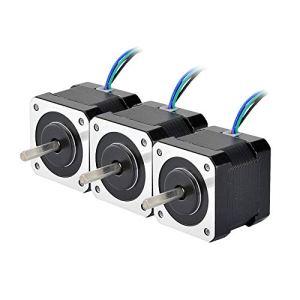 Stepperonline 3pcs NEMA 17Moteur pas à pas 45NCM câble de 1m 3d Pinter RepRap CNC robot