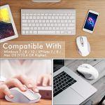 TedGem Souris sans Fil USB 2,4 G avec récepteur USB Nano pour Ordinateur Portable/PC/Chromebook/Windows/Macbook Blanc