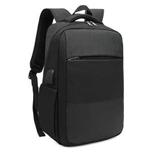 XQXA Sac à Dos Ordinateur Portable Homme Imperméable Antivol avec USB Charging Port Sac a Dos PC Portable 15,6″ Sac à Dos de Voyage d'affaires Loisirs Collège -Noir