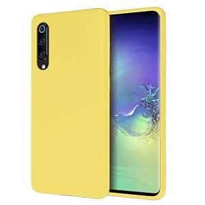 DYGG Coque Compatible avec Xiaomi mi 9 en Silicone Liquide Ultra Mince Doux Gel TPU Case Cover, Anti-Chute/Anti-Choc Housse de téléphone en Silicone – Jaune