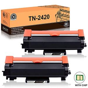 FITU WORK TN2420 TN2410 (avec Puce) Cartouche Toner Compatible pour Brother MFC-L2710DW MFC-L2730DW MFC-L2750DW DCP-L2510D DCP-L2530DW DCP-L2550DN HL-L2310D HL-L2350DW HL-L2370DN HL-L2375DW – 2xNoir