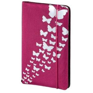 Hama 95673 Etui pour CD Fashion (pour 48 Disques, CD / DVD / Blu-ray / Livres Audio, Etui de Rangement, Gain de Place pour La Voiture et La Maison, avec Motif Papillon) Rose