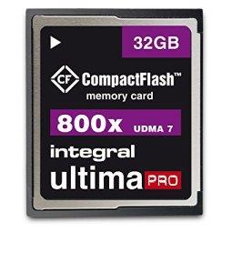 Integral CompactFlash 32 Go Carte Mémoire UltimaPro UDMA 7 VPG- 800X – pour Appareils Photo Numériques DSLR et Reflex Compatibles