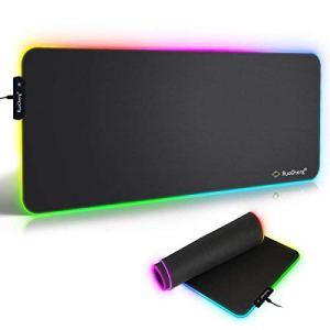 RAVER RGB Tapis de Souris Gaming, LED Lumineuse Tapis de Souris, Surface antiderapant pour Les Joueurs de l'Ordinateur PC et du Mac (780 x 300 mm)