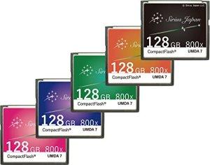 Sirius carte CF 128Go (Sirius Japon Compact Flash Card 800x) rose
