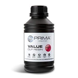 PrimaCreator Value Résine UV/DLP 500 ml / 1000 ml, 500 ML, Red, 1
