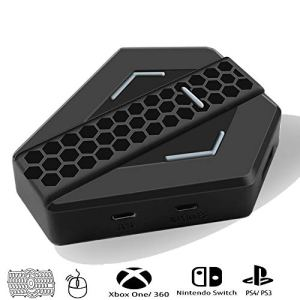 Adaptateur Multi-fonction Souris et Clavier Convertisseur de Contrôleur Bon Qualité LED Lumière pour PlayStation 4 PS3 XBOX ONE XBOX 360 SWITCH Manette Nintendo Combo Clavier-Souris USB Port – NOIR