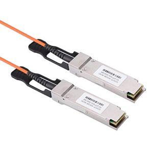 ASHATA AIQ-YP19016 QSFP-40GB-AOC Câble de Transmission de données en cuivre pour Transmission à Grande Vitesse 10 Gbit/s 100 canaux 100% Conforme à la Norme de protocole SFF-8436