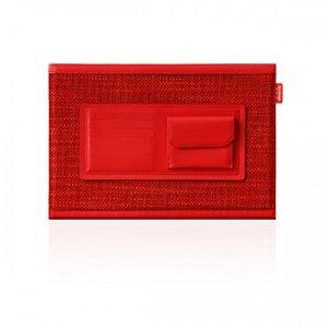 Couper Motif D5Cuir Peau de veau Edition Étui pour MacBook Pro Retina 33cm Rouge