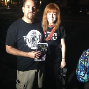 Evorath author Joseph Macolino with Lindsey Stirling.