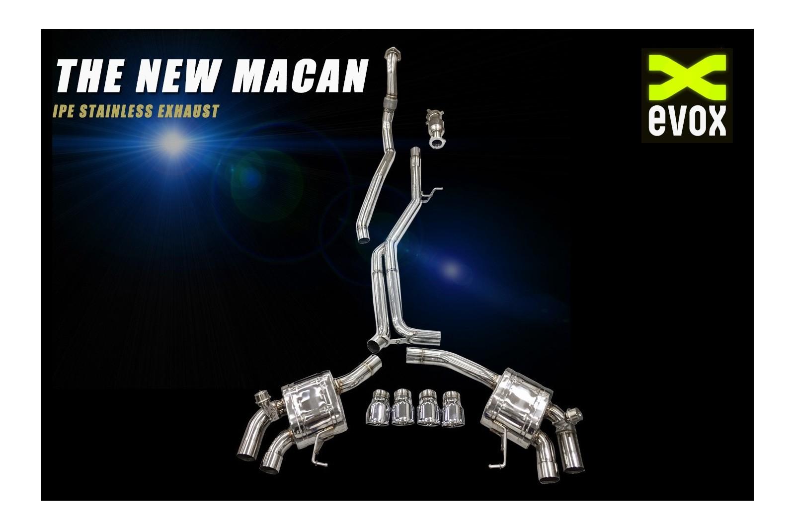 ipe exhaust system porsche macan 2 0l 2019