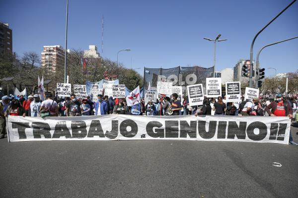 Arjantin'de eyleme katılanlar