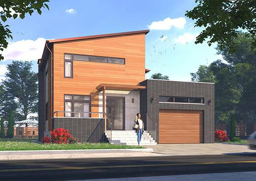 К39-2Э-190 «Проект двухэтажного пятикомнатного жилого дома с гаражом»
