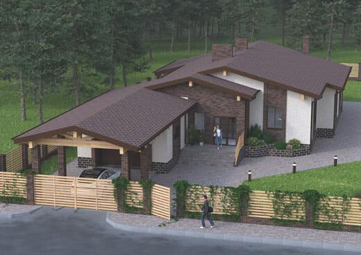 """К40-1Э-204 """"Проект одноэтажного 5-комнатного жилого дома в городе Шебекино"""""""