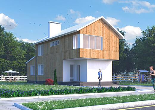 К40-2Э-109 «Проект двухэтажного трёхкомнатного дома в Белгороде»