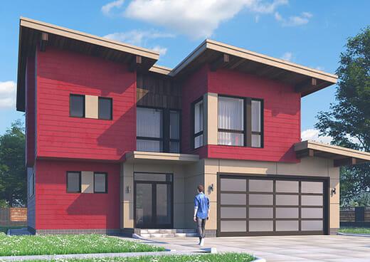 К41-2Э-248 «Проект двухэтажного дома со встроенным гаражом на 2 машиноместа»