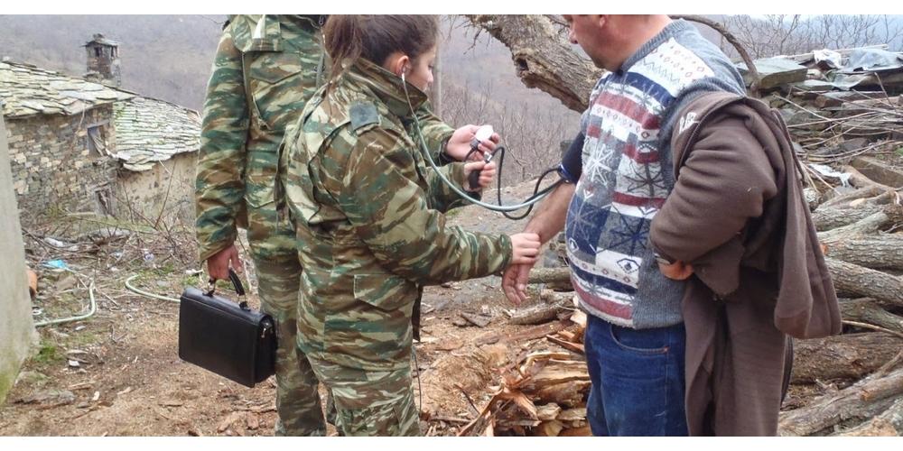 Στρατιωτικό ιατρικό κλιμάκιο στα παρέβρια χωριά του Διδυμοτείχου