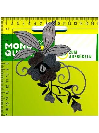 Термоаппликация<br>MQ-MX-22100-2020<br>Цветочный орнамент черный</br>