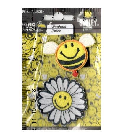 Термоаппликация<br>MQ-MD-18833-2020<br>Пчела и цветок с липучкой / Smiley</br>
