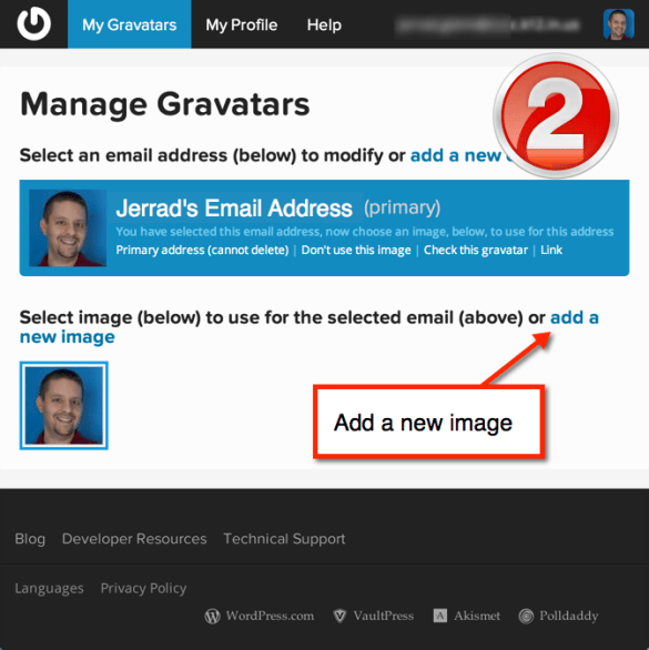 Add additional email addresses and upload your avatar images.