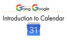 Introducation to Google Calendar