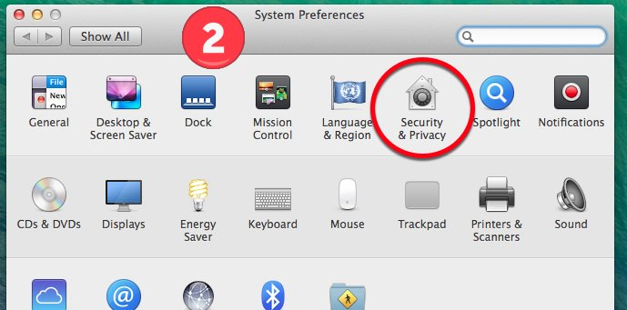 GApps-for-Mac-Dock-Security Settings Step 2
