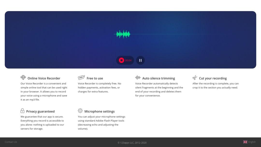 Online Voice Recorder - Recording Audio