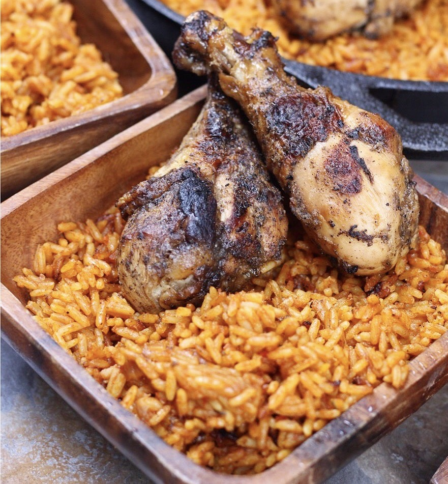 Steps in cooking jollof rice