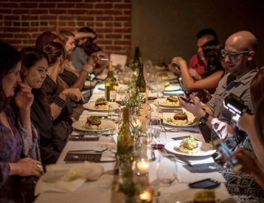Harvest of the Season, The Last Summer Dinner Pop Up, featuring the produce of the California summer sourced from Santa Monica and Hollywood Farmers Market.