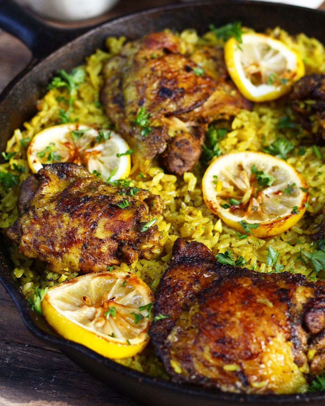 One Pot Middle Eastern Chicken And Rice Ev S Eats