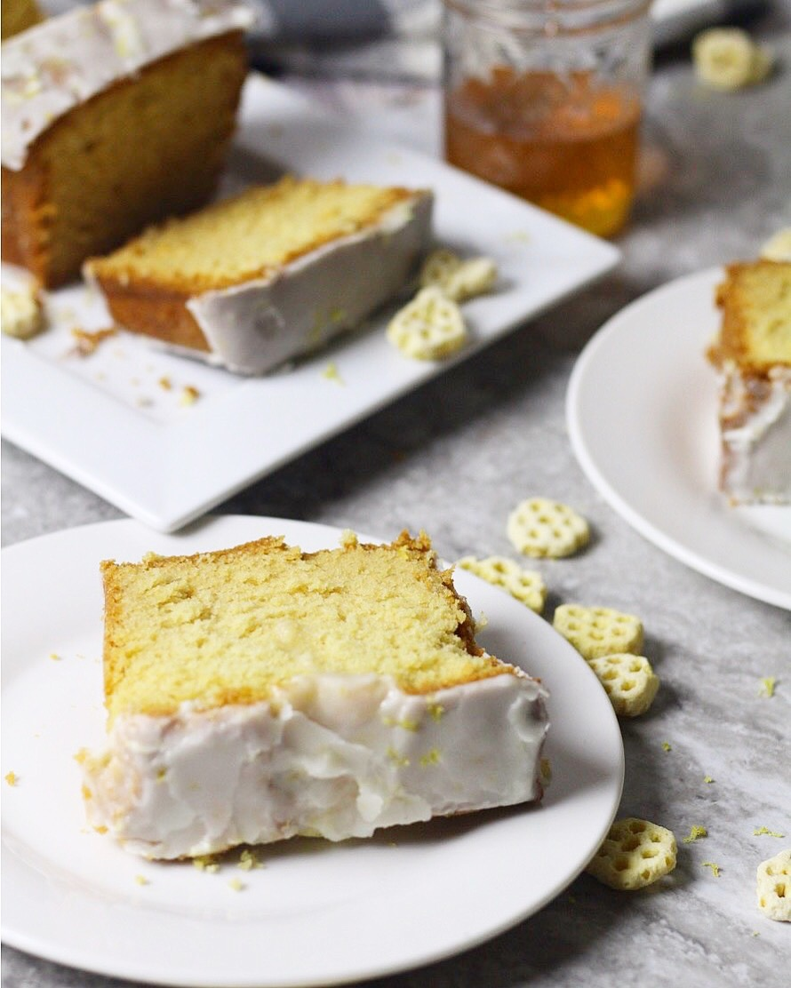 A fun twist on classic pound cake using Honeycomb® cereal.