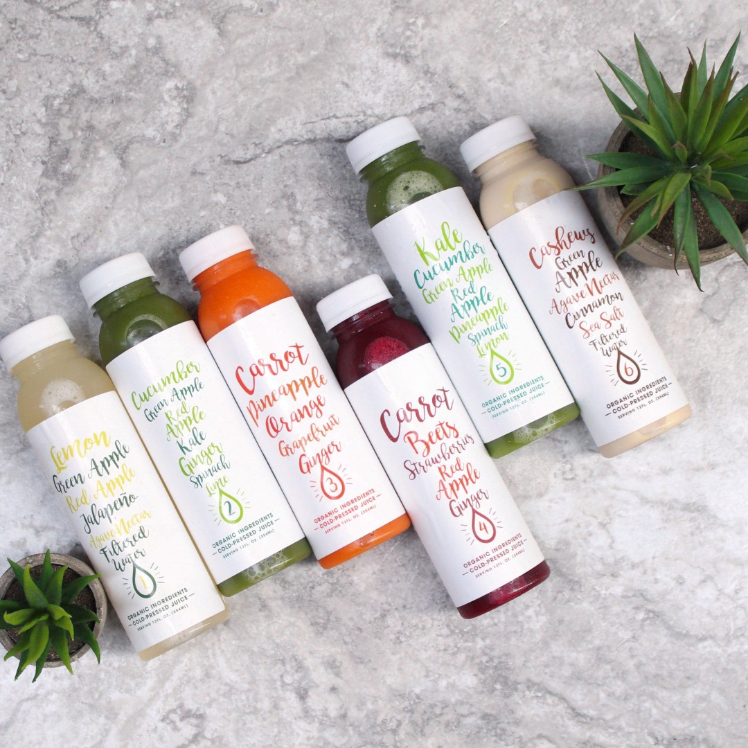New juice cleanse from Juice It up, a one day wellness pack! 6 different cold pressed juice flavors serving a specific functional purpose!