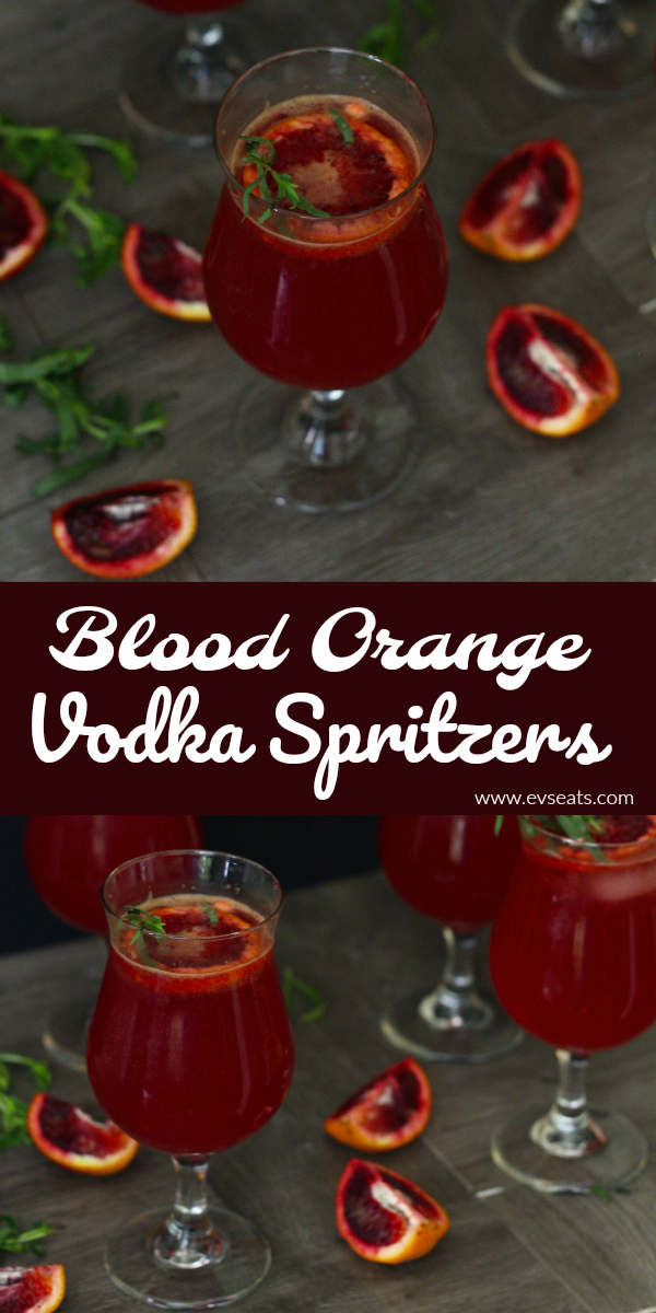 Sweet, tangy, and refreshing these Blood Orange Vodka Spritzers are the perfect cocktail to whip up at home.