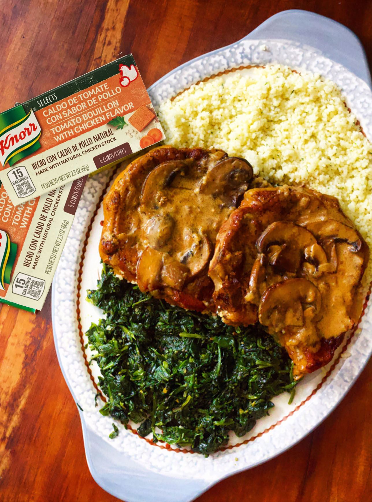 Delicious & juicy Cajun pork chops smothered in onions and mushrooms, in a spicy Cajun tomato cream sauce. Perfect dinner recipe!