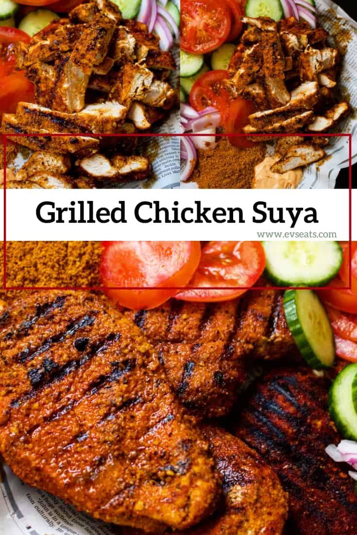 seasoned with a spicy and smoky seasoning called suya