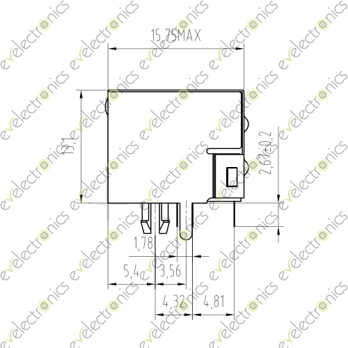 8 Pin RJ-45 RJ45 PCB Network LAN Connector with LED
